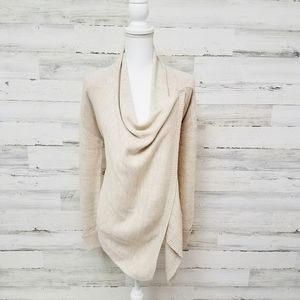 Venus Multi Way Beige Cardigan Sweater Top